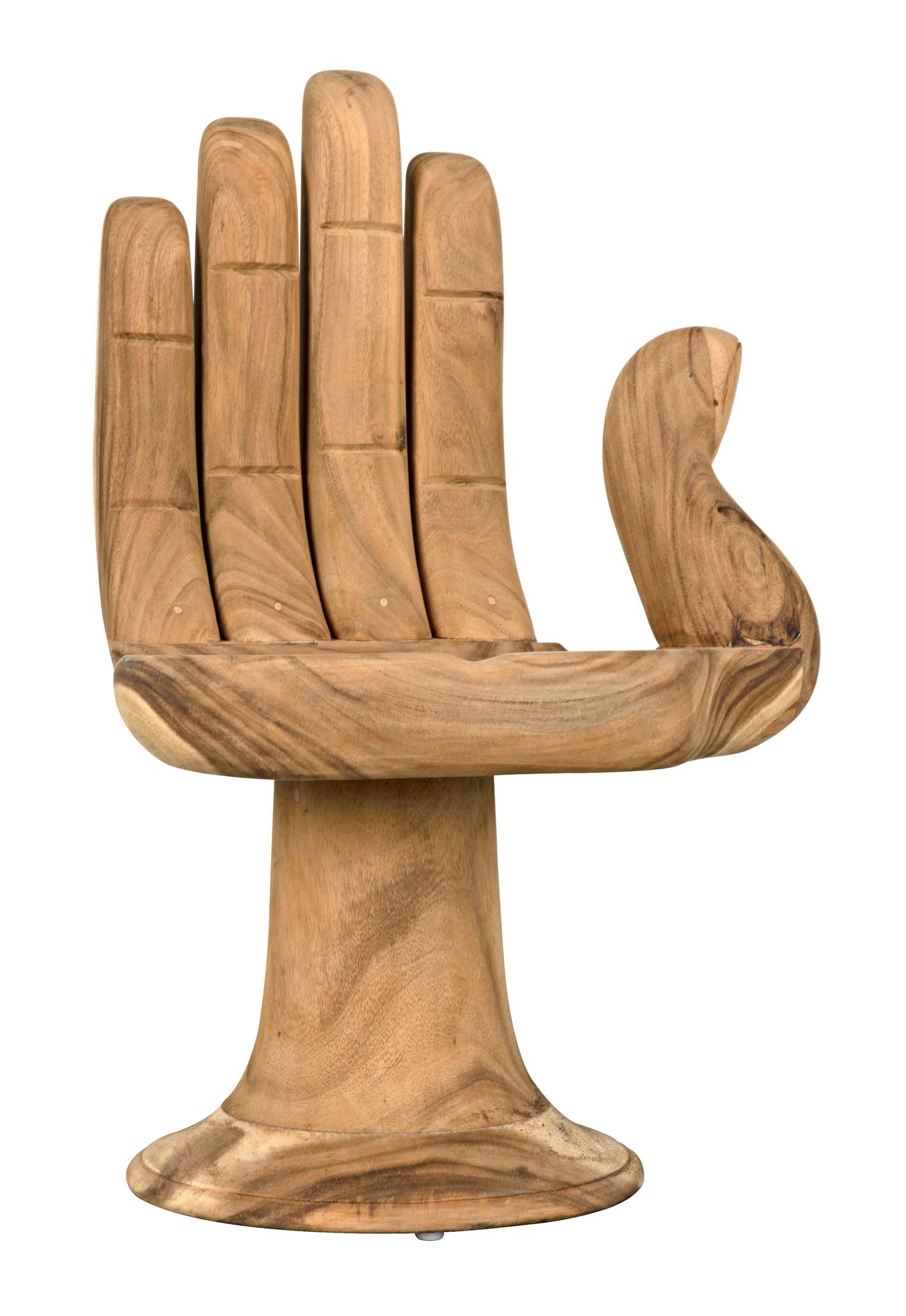wood hand chair design museum noir