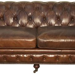 Tufted Brown Leather Sofa Parts Legs Noir