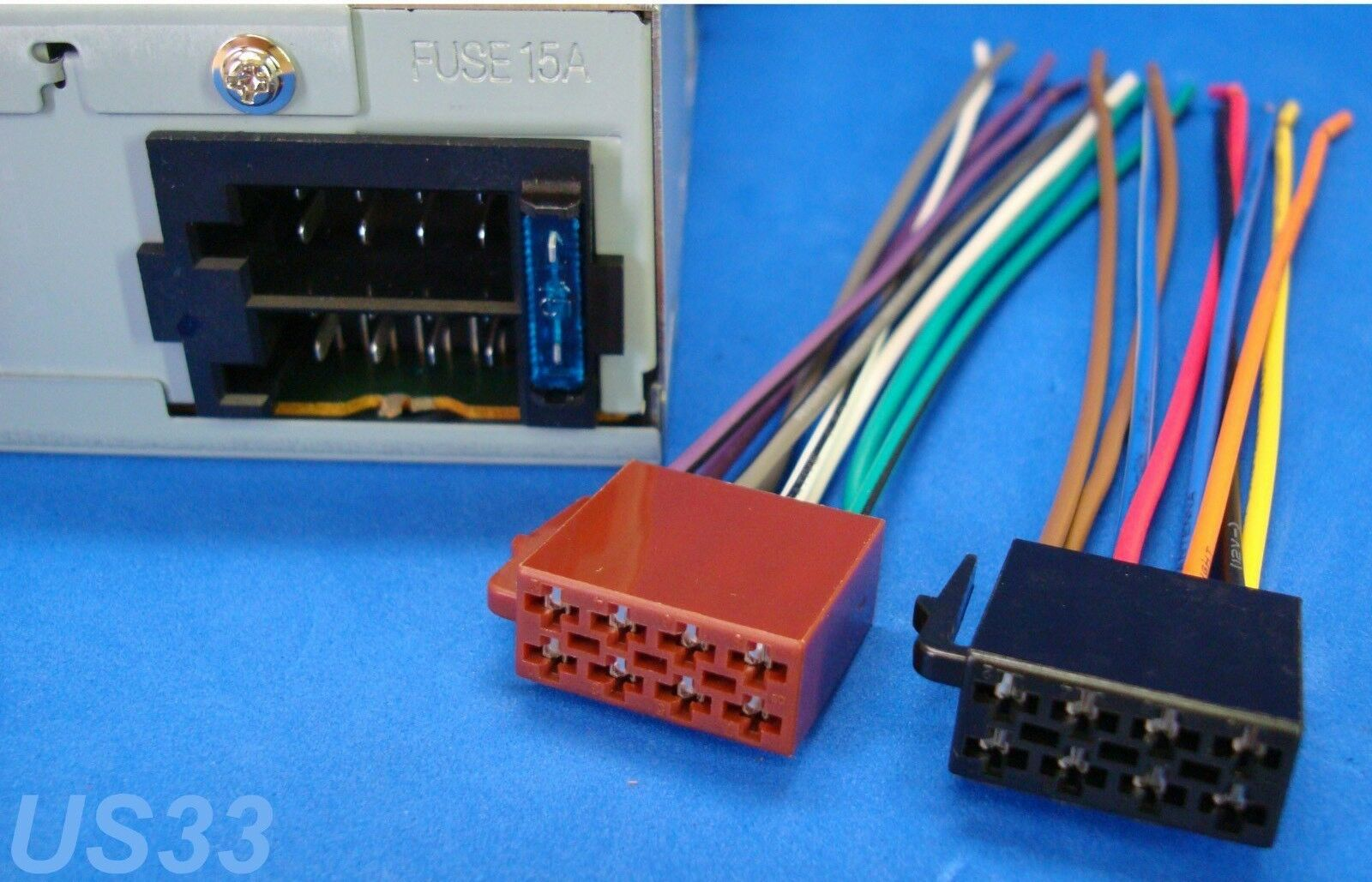 hight resolution of panasonic boss radio power plug stereo wire harness back clip set 16 pin 8 8 for sale