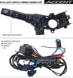 new fog light lamp complete kit wiring harness oem for 2012 2013 hyundai accent fog light lamp complete kitwiring harnessmf switch [ 1150 x 1150 Pixel ]