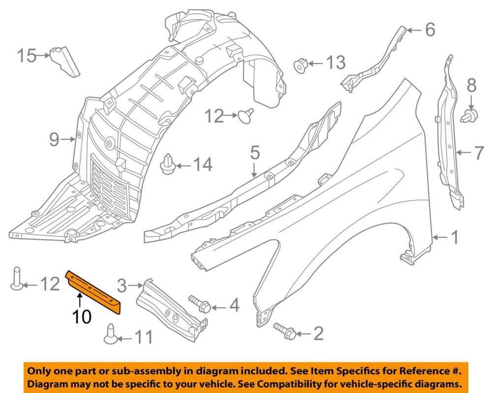 medium resolution of nissan altima fender diagram