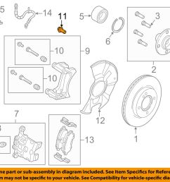 ford oem 11 18 fiesta brake front caliper support mount bolt w711241s442a for sale [ 1500 x 1197 Pixel ]