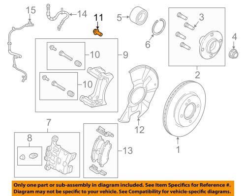 small resolution of ford oem 11 18 fiesta brake front caliper support mount bolt w711241s442a for sale