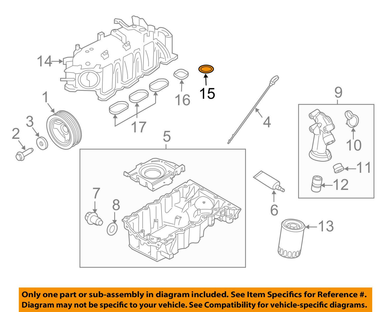 hight resolution of ford oem engine intake manifold gasket aa5z9439ba 16 20
