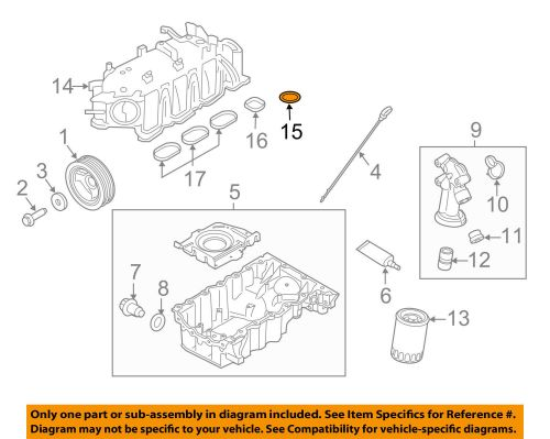 small resolution of ford oem engine intake manifold gasket aa5z9439ba 16 20