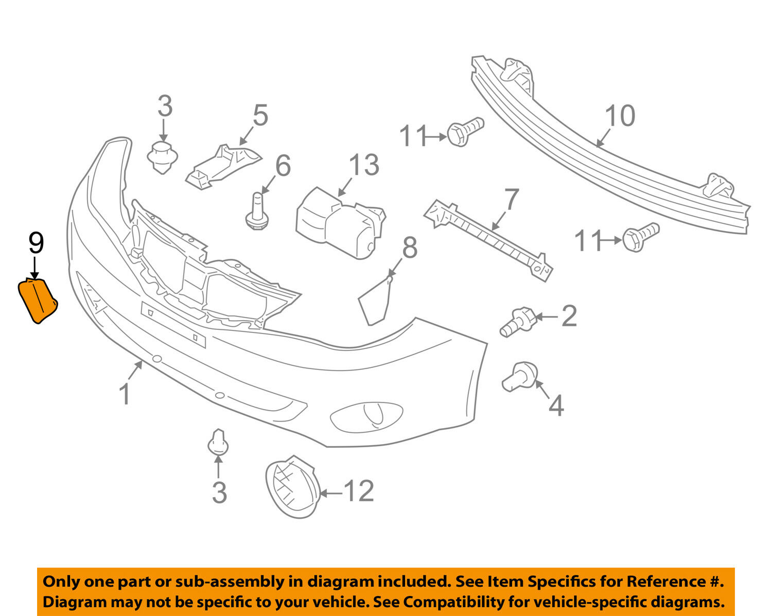hight resolution of subaru oem 08 11 impreza front bumper tow eye cap cover 57731fg000 for sale