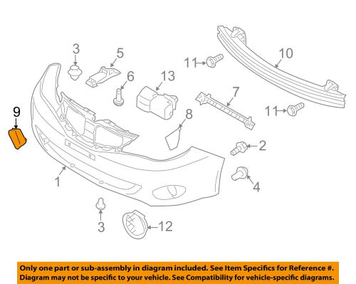 small resolution of subaru oem 08 11 impreza front bumper tow eye cap cover 57731fg000 for sale