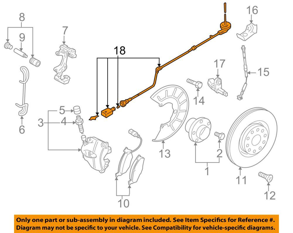 medium resolution of vw volkswagen oem gti abs anti lock brakes front sensor wire left 1k0927903r for sale