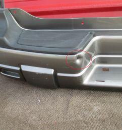 2008 chevrolet trailblazer oem rear bumper cover 02 03 04 05 06 07 for sale [ 1600 x 1200 Pixel ]
