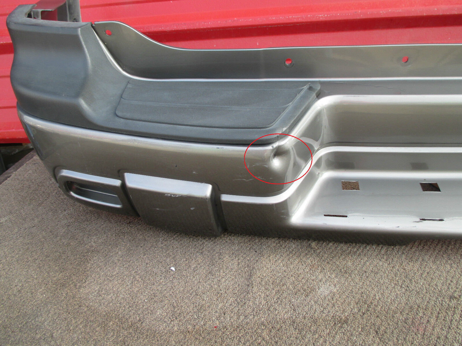hight resolution of 2008 chevrolet trailblazer oem rear bumper cover 02 03 04 05 06 07 for sale