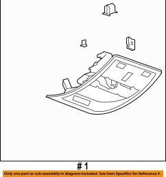 gm roof diagram [ 1400 x 1569 Pixel ]