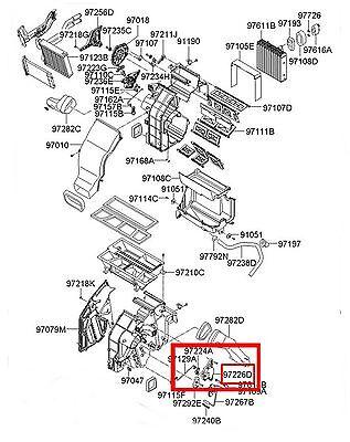 HVAC Heater Blend Door Actuator FOR Hyundai Sonata, Azera