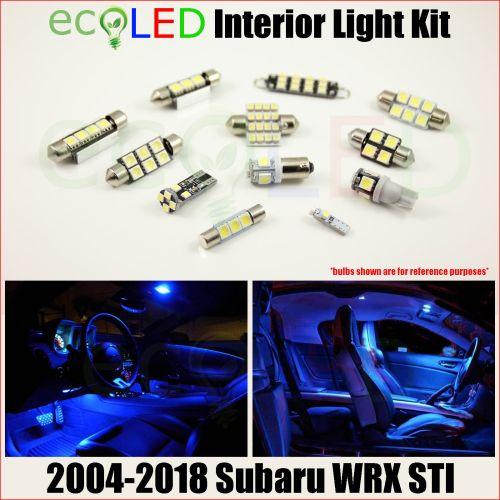small resolution of fits 2004 2018 subaru wrx sti blue led interior light accessories kit 8 bulbs for sale