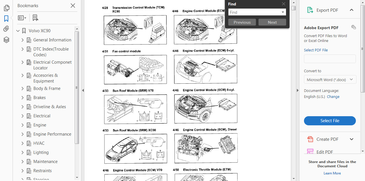 hight resolution of vehicle parts accessories official workshop manual service repair volvo xc90 2002 2014 wiring diagram car