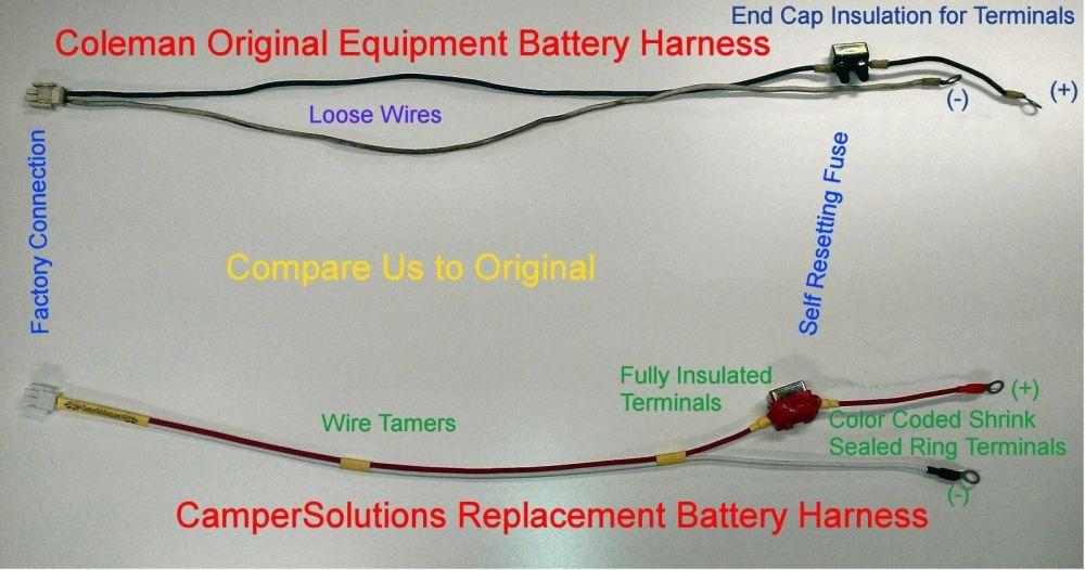 medium resolution of coleman 15 amp popup camper battery harness 4749a5531 34 99