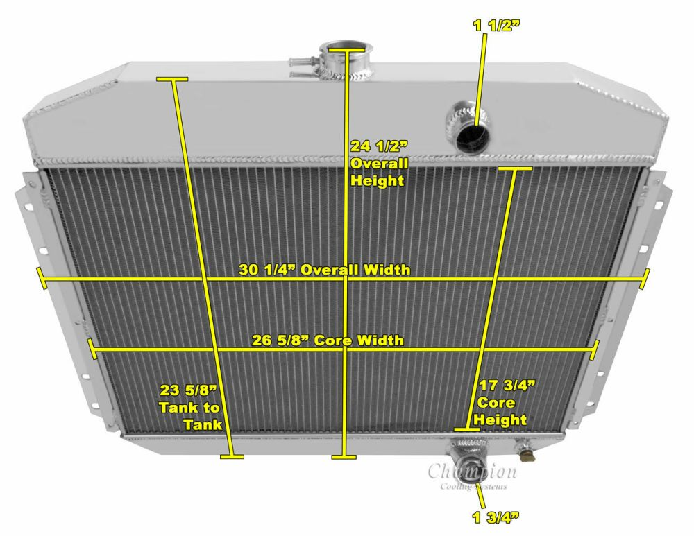 medium resolution of cooling systems parts accessories 1961 1964 ford f 100 f 250 f 350 pickup truck