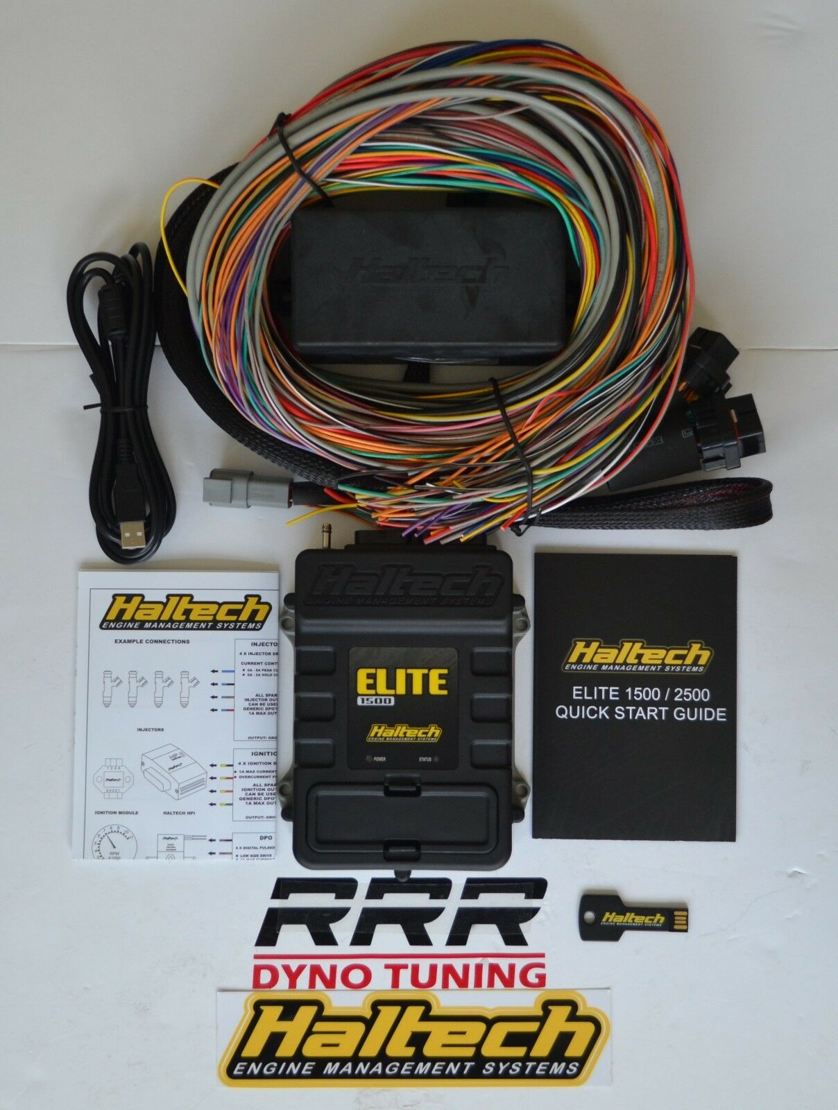 hight resolution of haltech elite 1500 ecu universal premium 8 ft wiring harness kit 3 bar map for sale