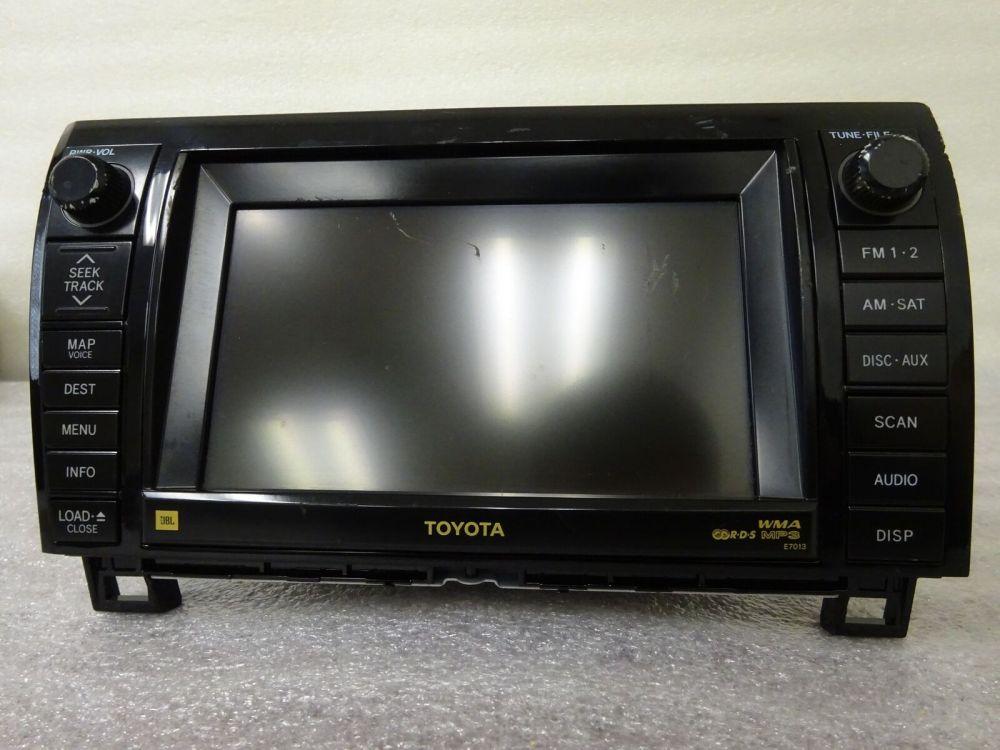 medium resolution of 2007 2010 toyota tundra oem gps navigation system jbl e7013 86120 0c220 grade c for sale