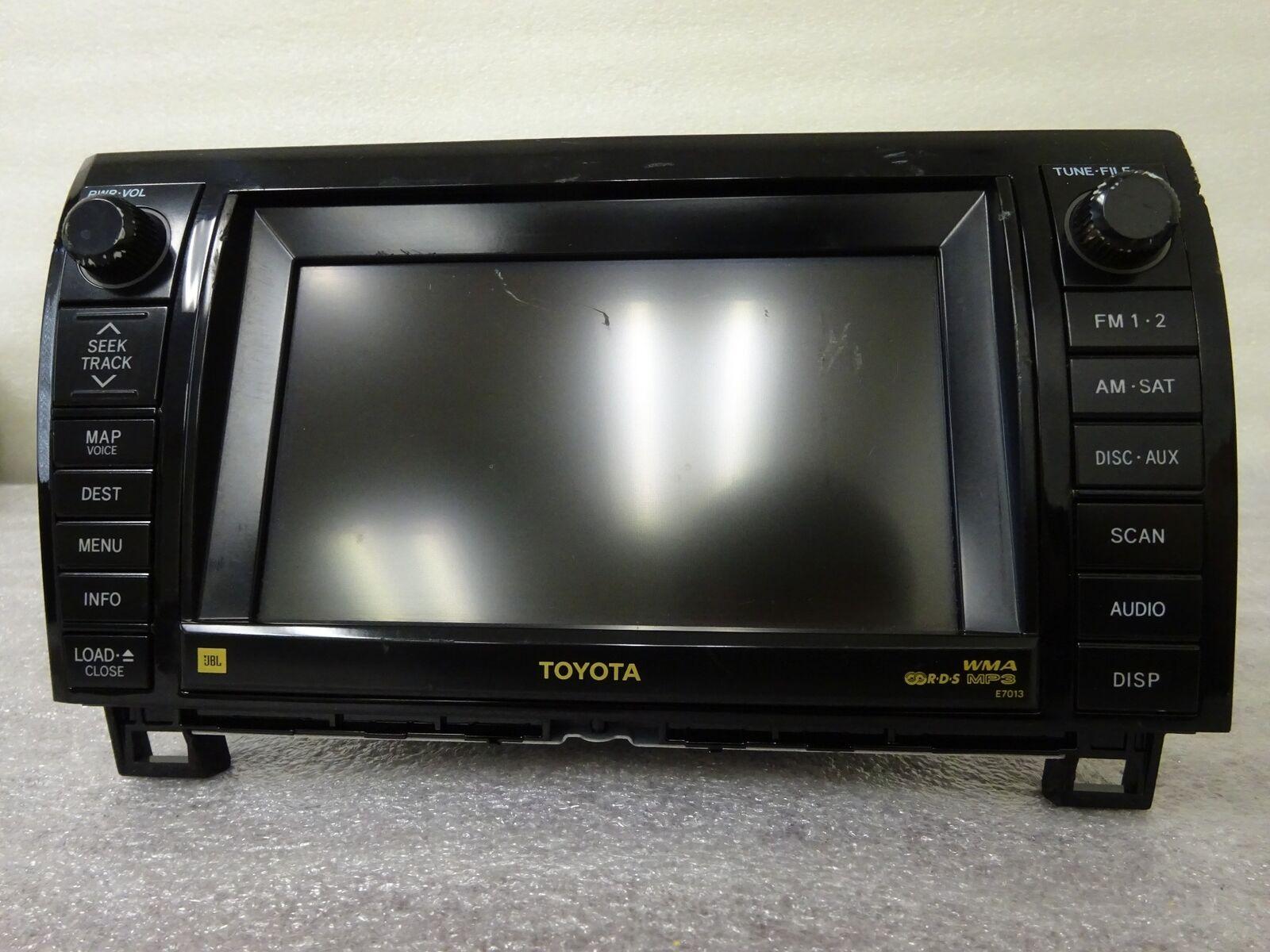 hight resolution of 2007 2010 toyota tundra oem gps navigation system jbl e7013 86120 0c220 grade c for sale