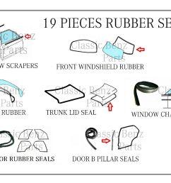 mercedes w114 w115 door window windshield trunk rubber seal set 15 pieces for sale [ 1600 x 1325 Pixel ]