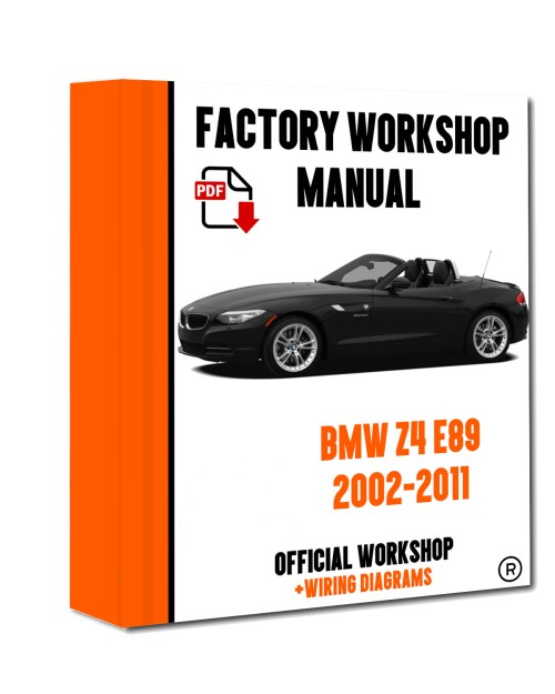 small resolution of  official workshop manual service repair bmw series z4 e89 2009 2016 for sale