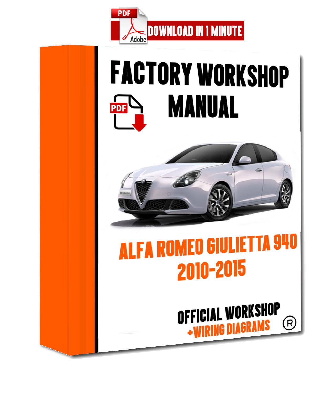hight resolution of  italian official workshop manual repair alfa romeo giulietta 940 2010 2015 for sale