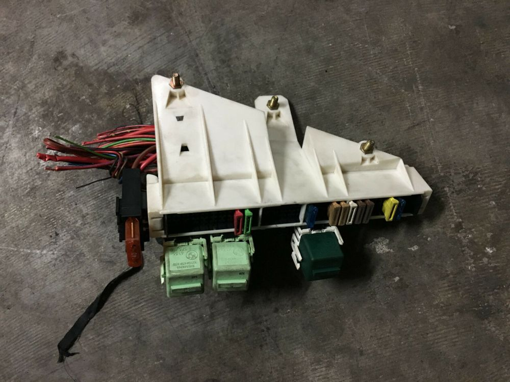medium resolution of bmw oem e39 e38 rear trunk battery junction terminal wire fuse relay panel box for sale
