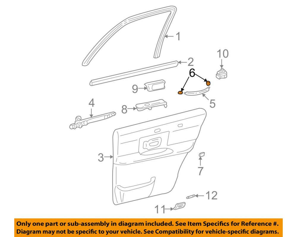medium resolution of lincoln ford oem 03 11 town car interior rear door cover 3w1z5422670aac for sale