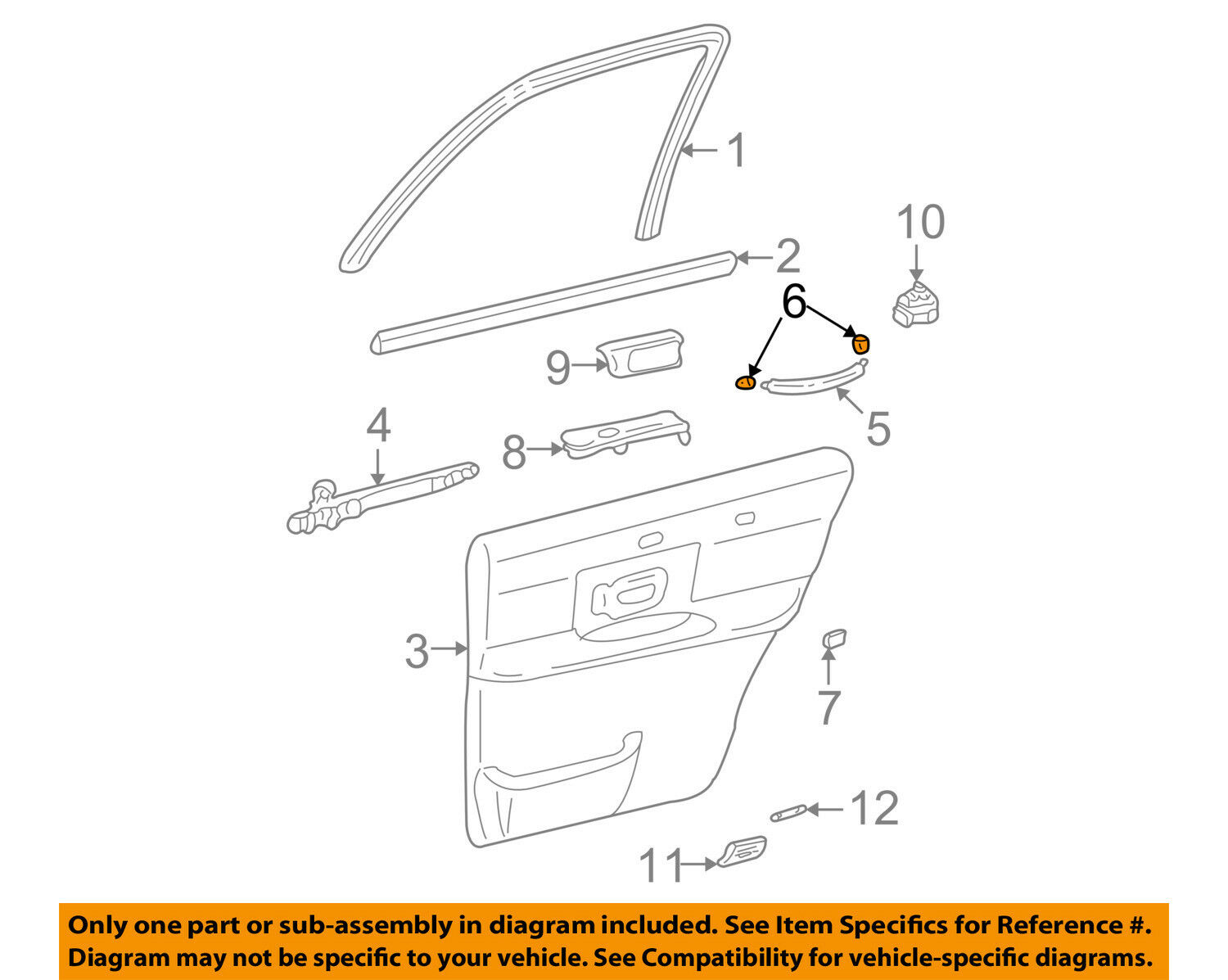 hight resolution of lincoln ford oem 03 11 town car interior rear door cover 3w1z5422670aac for sale