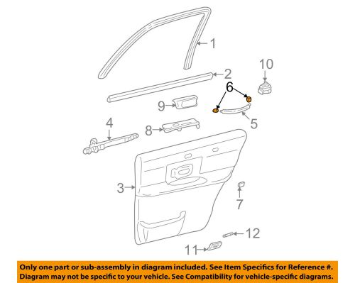 small resolution of lincoln ford oem 03 11 town car interior rear door cover 3w1z5422670aac for sale