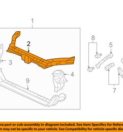 acura honda oem 04 08 tl radiator core support upper tie bar 04602sepa10zz for sale [ 1500 x 1197 Pixel ]