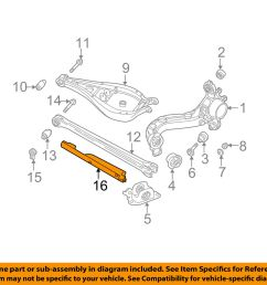 bmw oem 03 16 z4 rear suspension lower control arm cover left 33321094469 for [ 1500 x 1197 Pixel ]