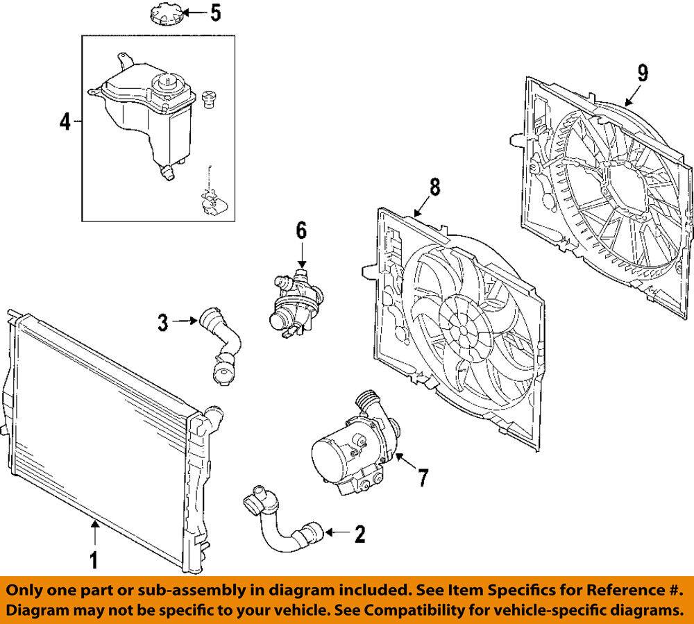 medium resolution of bmw oem 07 13 328i radiator cooling fan motor 17117590699 for sale radiator diagram 98 bmw 328i bmw 328i radiator diagram