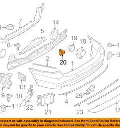 bmw oem 14 16 428i xdrive rear bumper park sensor holder 51127470968 for sale [ 1500 x 1197 Pixel ]