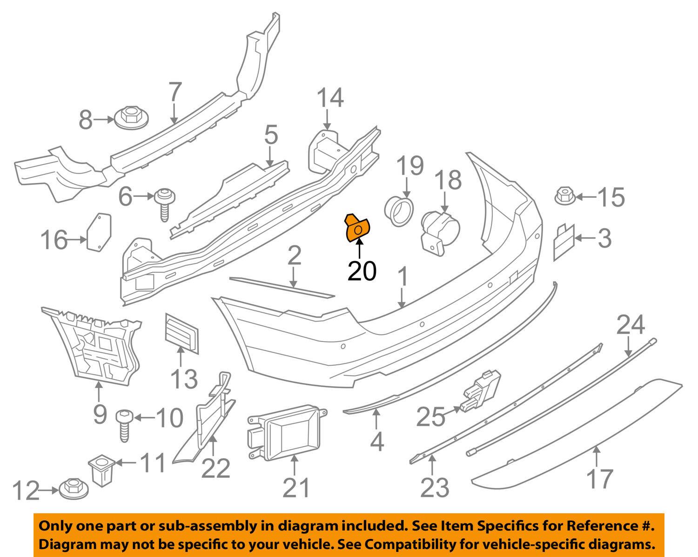 hight resolution of bmw oem 14 16 428i xdrive rear bumper park sensor holder 51127470968 for sale