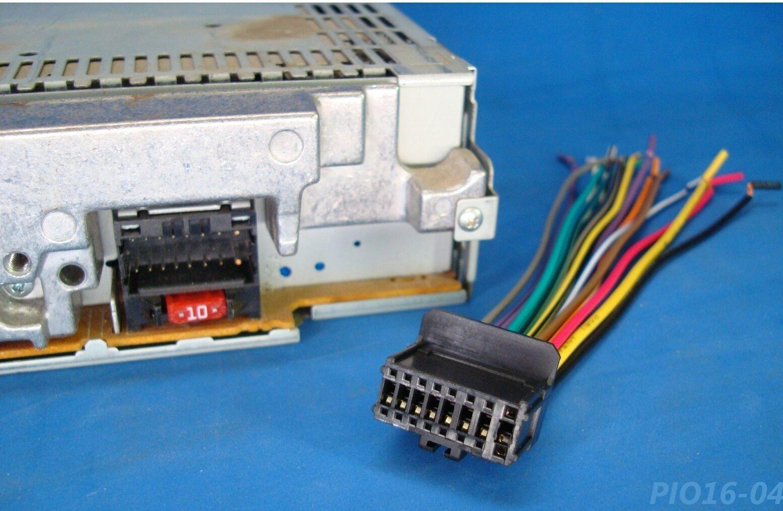 hight resolution of pioneer radio plug stereo harness deh p3000ib p4900ib p5100ub p5800mp p4800mp 15 for sale