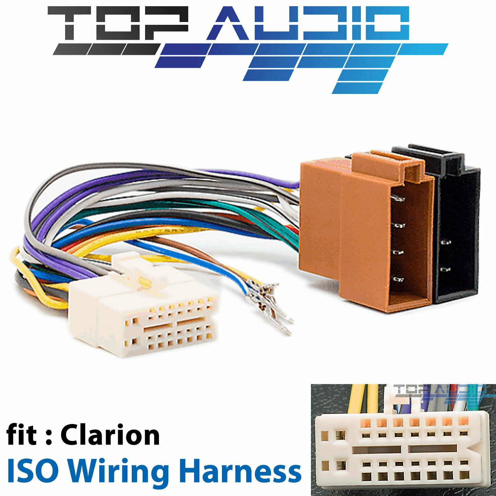 hight resolution of clarion cx305au iso wiring harness cable connector adaptor lead loom wire plug for sale