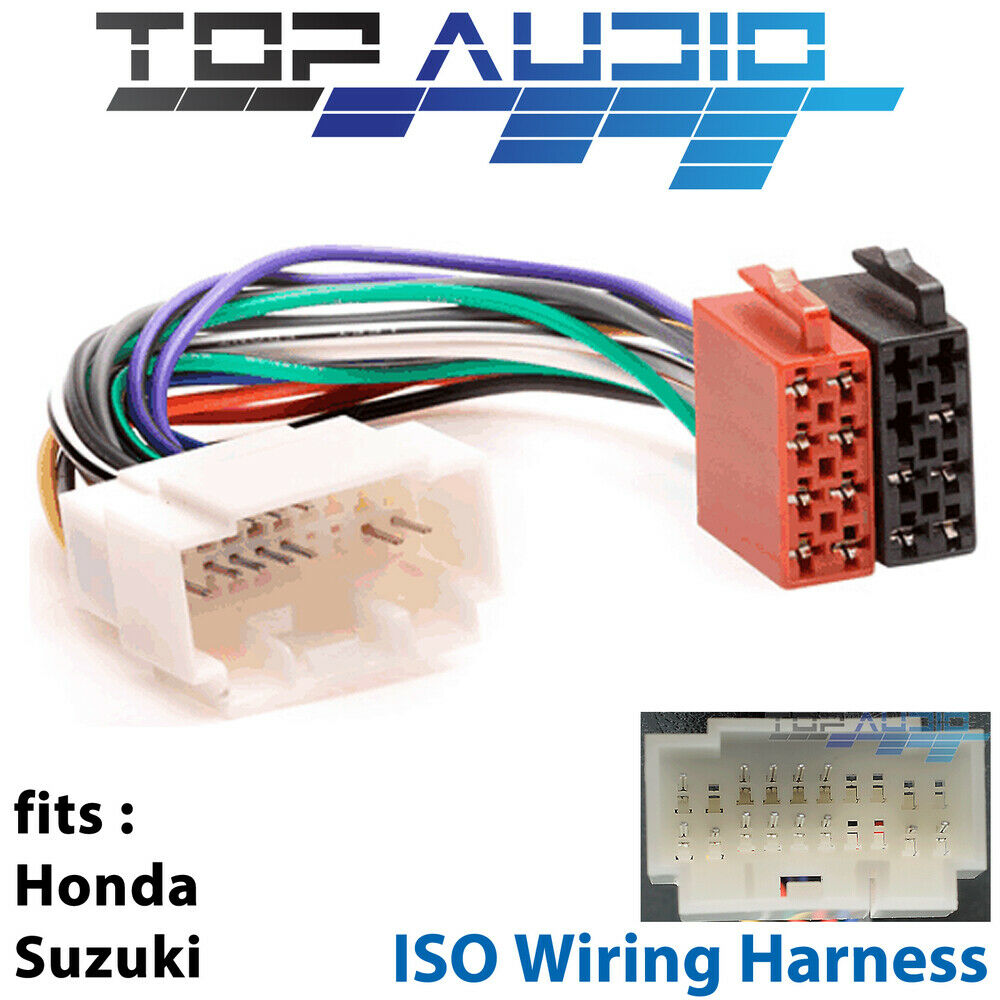 hight resolution of honda suzuki iso wiring harness stereo radio lead loom connector adaptor for sale
