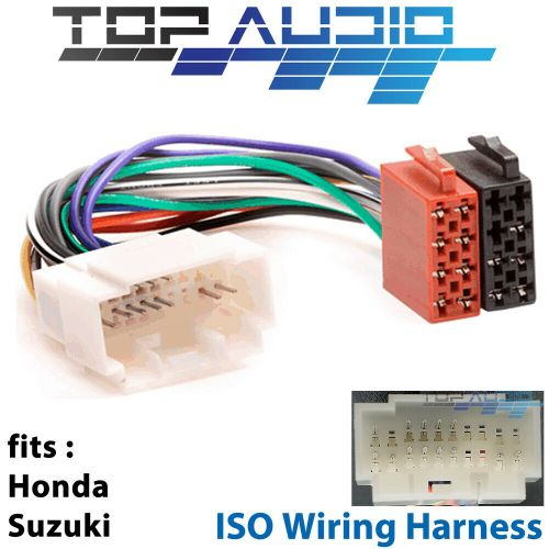 small resolution of honda suzuki iso wiring harness stereo radio lead loom connector adaptor for sale