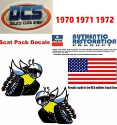 70 coronet super bee scat pack bee 1 4 window decals inside 3505100 3505101 new for sale [ 897 x 942 Pixel ]