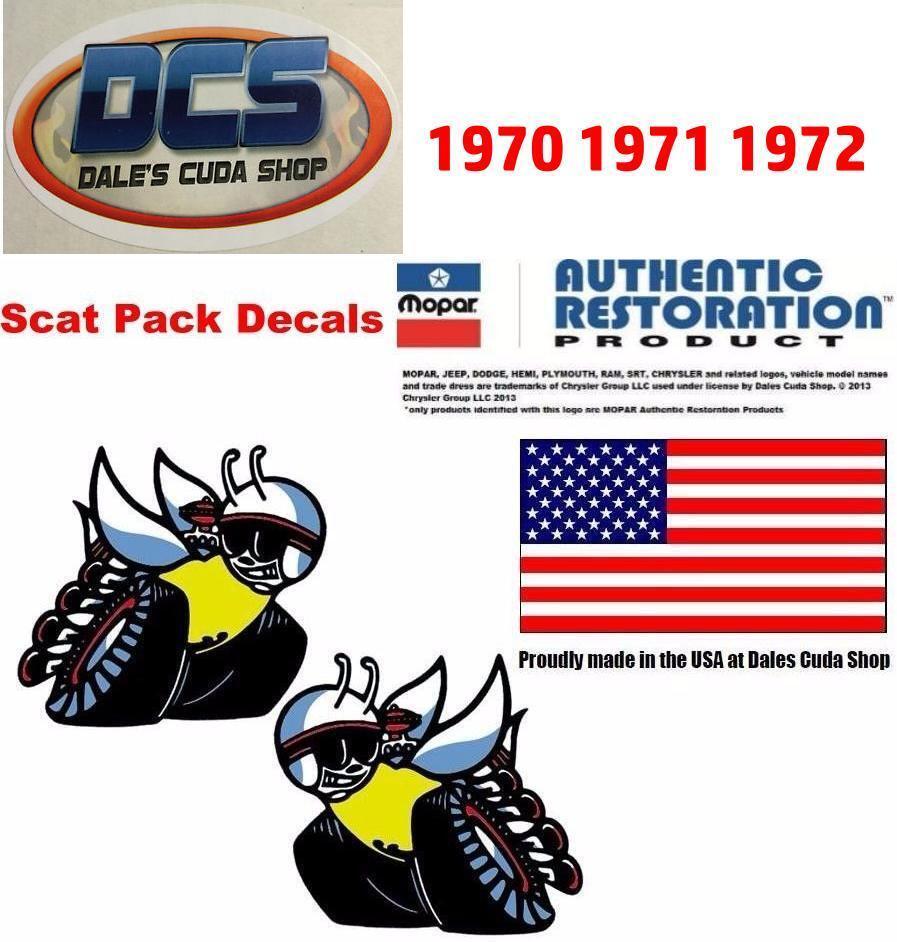 medium resolution of 70 coronet super bee scat pack bee 1 4 window decals inside 3505100 3505101 new for sale