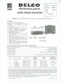 GM Delco 1957 Pontiac Wonderbar Radio 988672 Service and