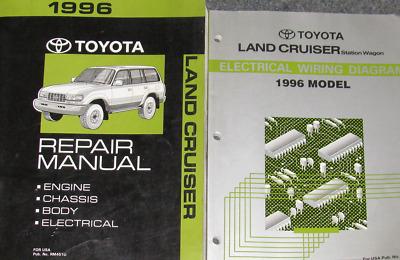 toyota land cruiser 1996 electrical wiring diagram 1995 gmc sierra ignition service repair manual set shop workshop w ewd oem