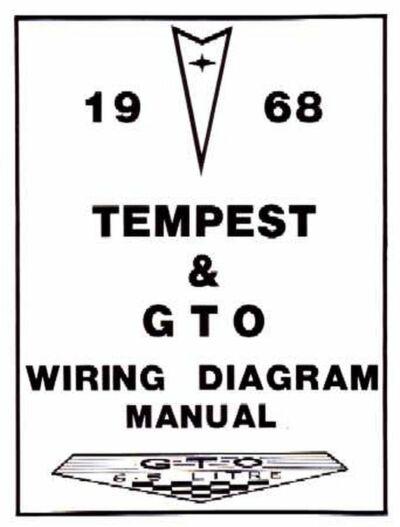 OEM Repair Maintenance Wiring Schematics Bound Pontiac Gto