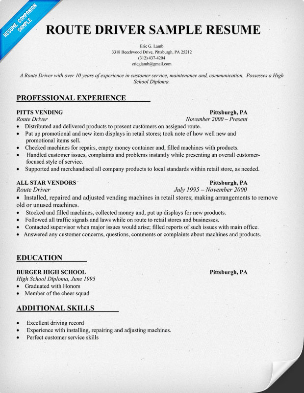 uber driver resume template