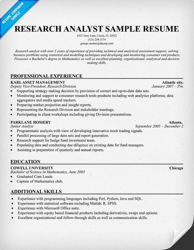Market Analyst Sample Resume Analyst Resume Marketing Analyst  Market Analyst Resume