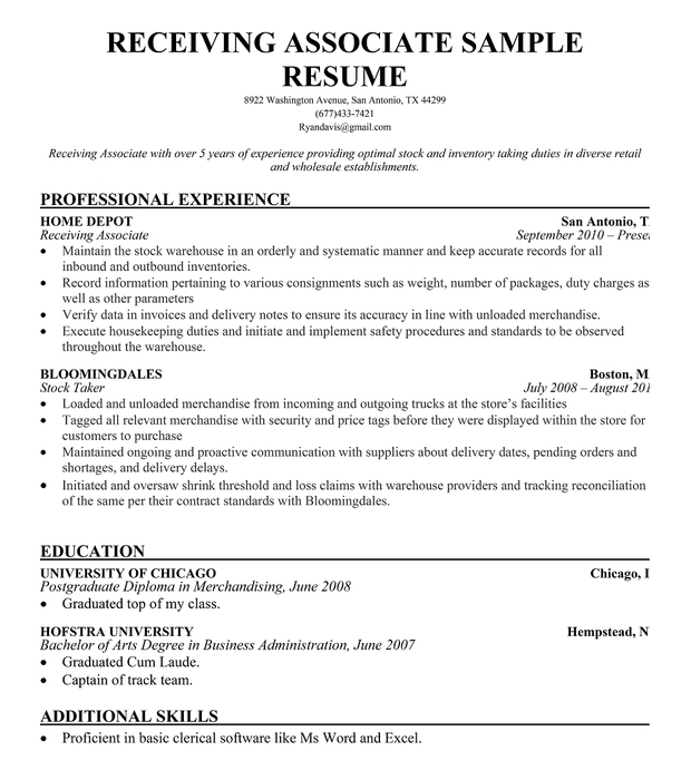 Indeed Resume: Warehouse Supervisor Resume Example