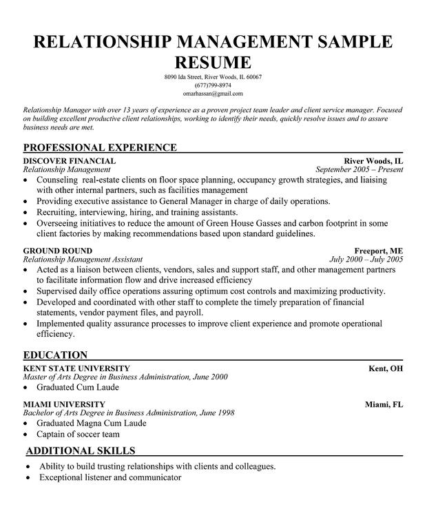 30 business relationship manager resume samples jobherojobhero