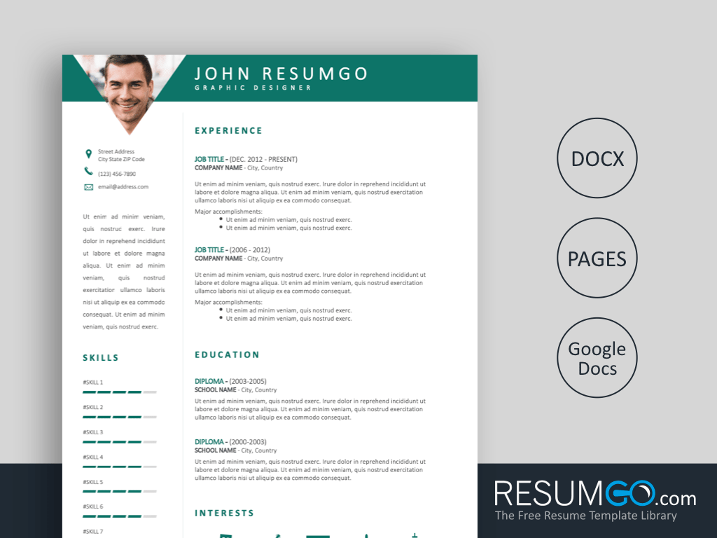 resume sections titles