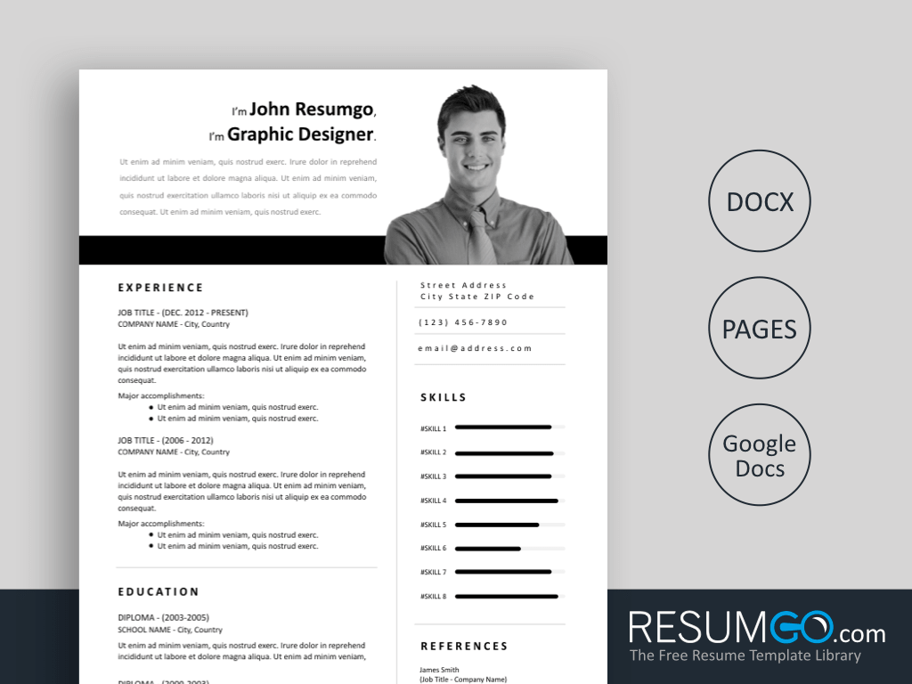 This may seem like a lot of pressure, but getting the right format for a resume is easier than it seems at first. Zoe Easy To Print Resume Template Resumgo